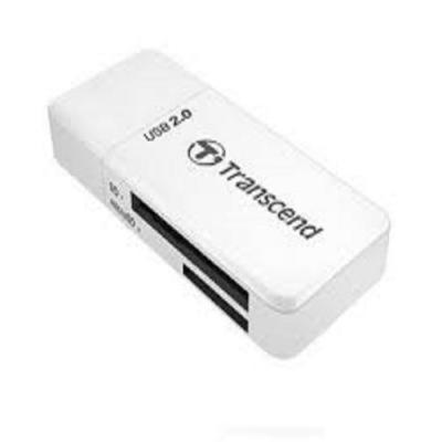 Đầu đọc thẻ nhớ USB2.0 UHS-I SDHC, SDXC UHS-I,  micro SDHC UHS-I, micro SDXC UHS-I - P5W (màu trắng) Transcend